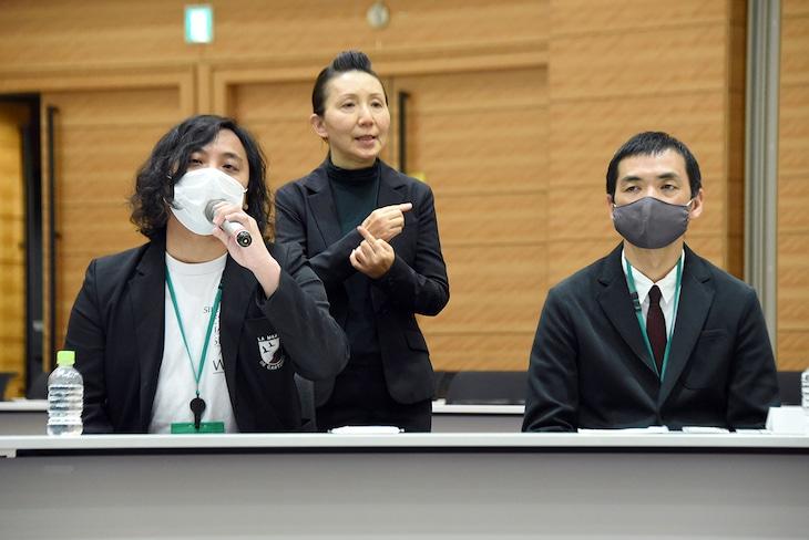 左からスガナミユウ(LIVE HAUS)、加藤梅造(ロフトプロジェクト)。