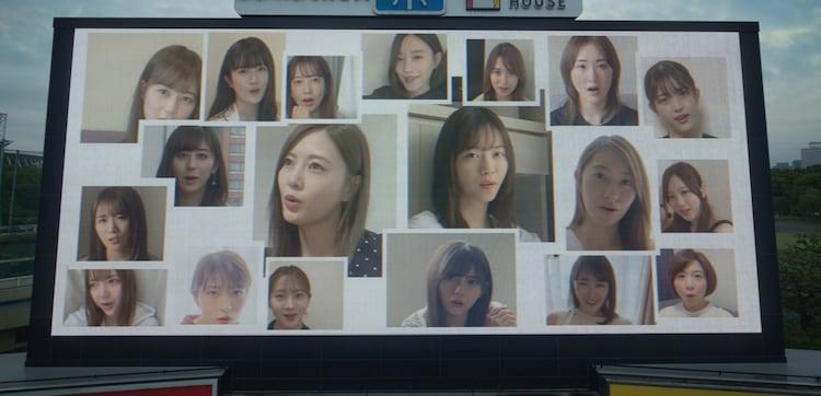 乃木坂46「世界中の隣人よ」ミュージックビデオのワンシーン。