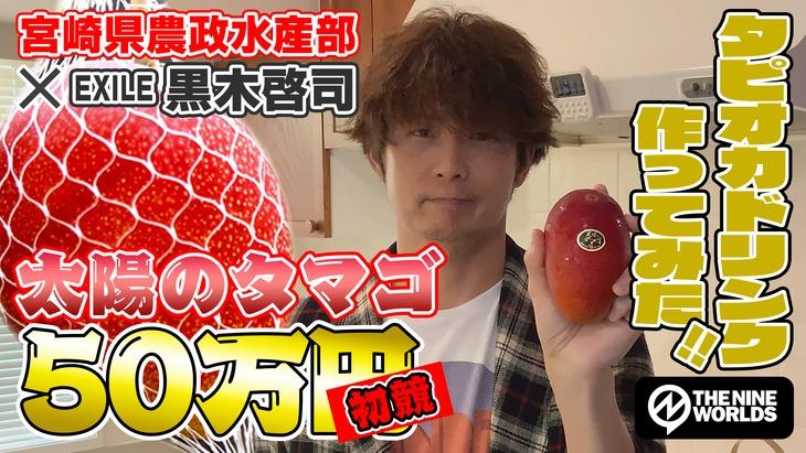 動画「【簡単料理】宮崎名産「太陽のタマゴ」で、マンゴータピオカドリンク作ってみた!」より。