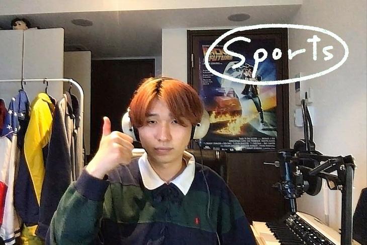 Mega Shinnosuke「Sports」セルフカバー動画より。