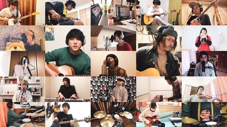 新たに配信されるセカイイチとFoZZtone「ハレルヤ」ミュージックビデオのワンシーン。