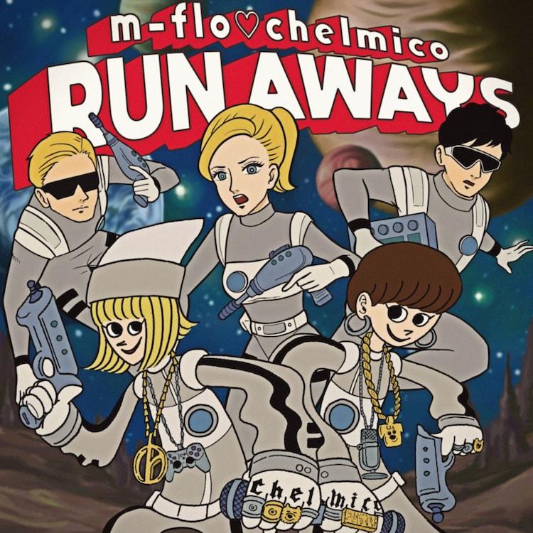 "m-flo ▽ chelmico ""RUN AWAYS"" distribution jacket"