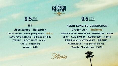 「GREENROOM FESTIVAL'20」告知ビジュアル