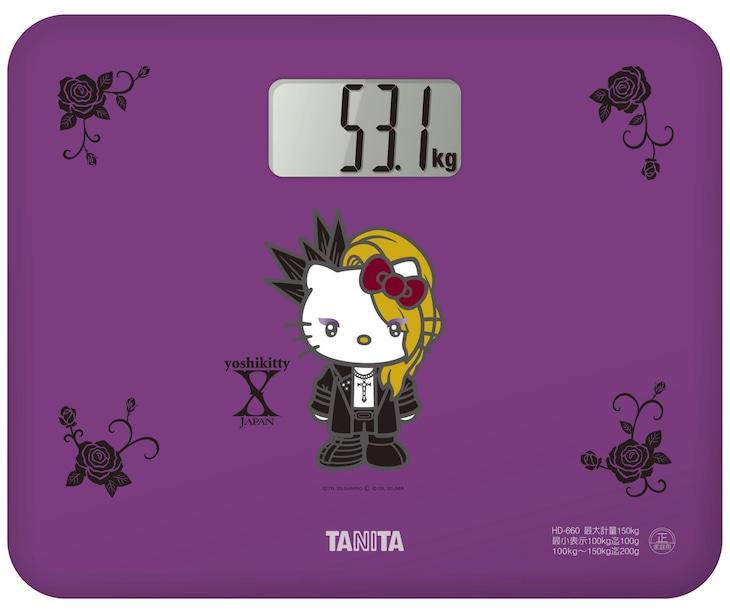 「デジタルヘルスメーター yoshikittyモデル」デザイン (c)'76,'20 SANRIO (L) (c)'09,'20 JMA