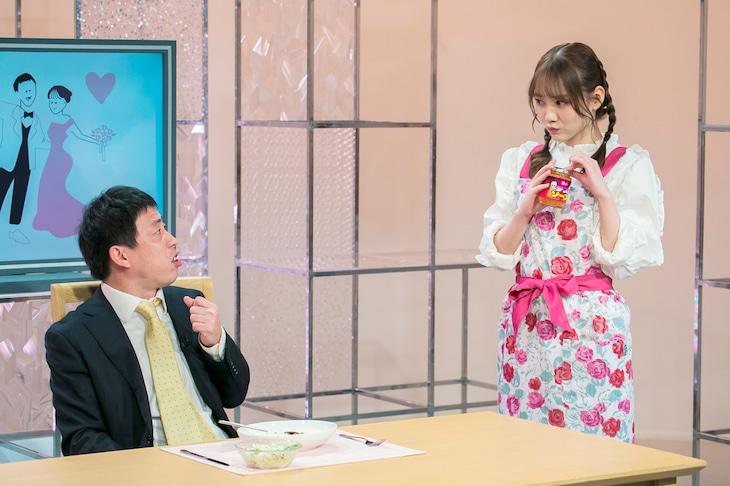 「ノギザカスキッツ」より、左から森田哲矢(さらば青春の光)、田村真佑(乃木坂46)。(c)日本テレビ