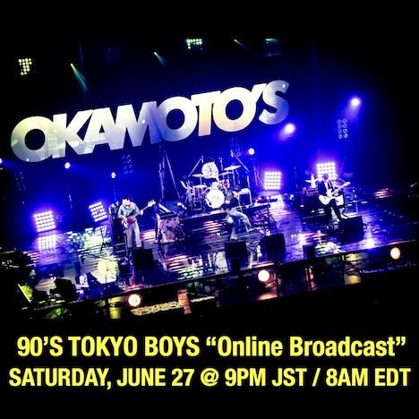 """「90'S TOKYO BOYS """"Online Broadcast""""」告知ビジュアル"""
