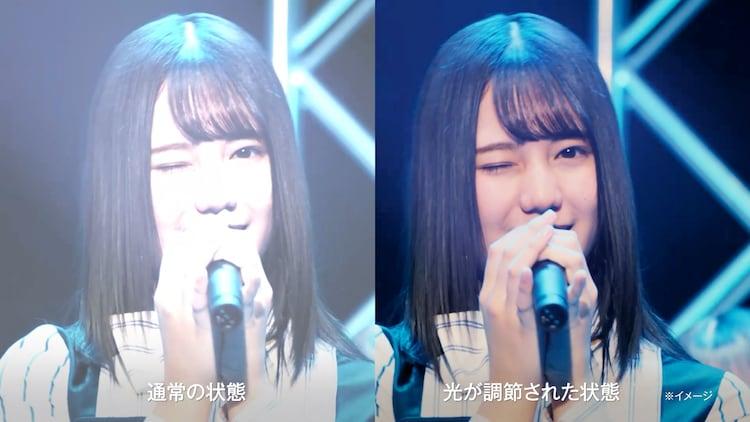 「アキュビュー オアシス トランジションズ スマート調光」テレビCM「日向坂46」編より。