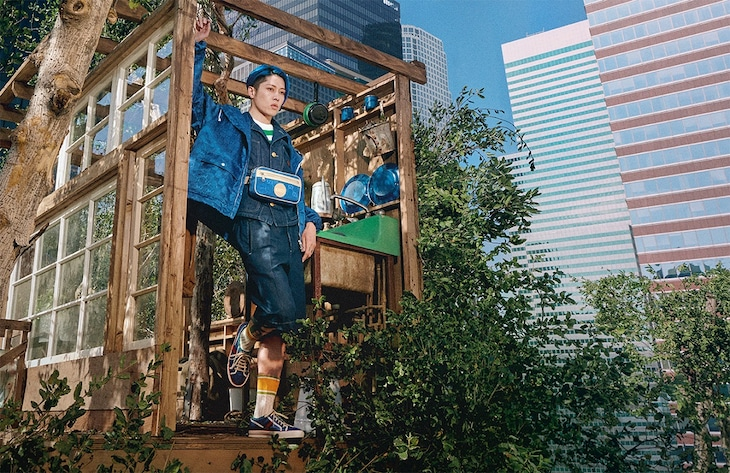 「Gucci Off the Grid collection」を着こなすMIYAVI。(Courtesy of Gucci)