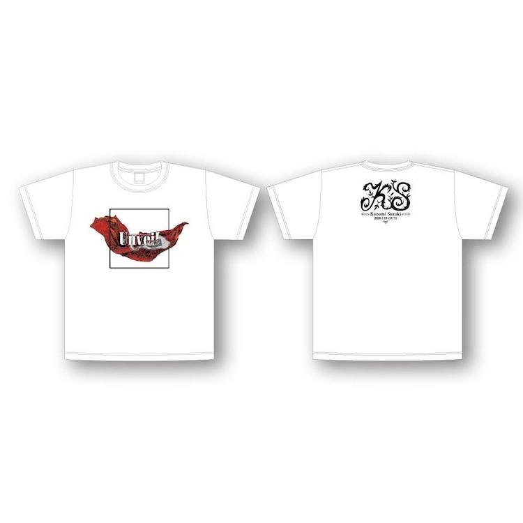 """鈴木このみライブ限定 Unveil """"ZERO"""" Tシャツ(WHITE)"""