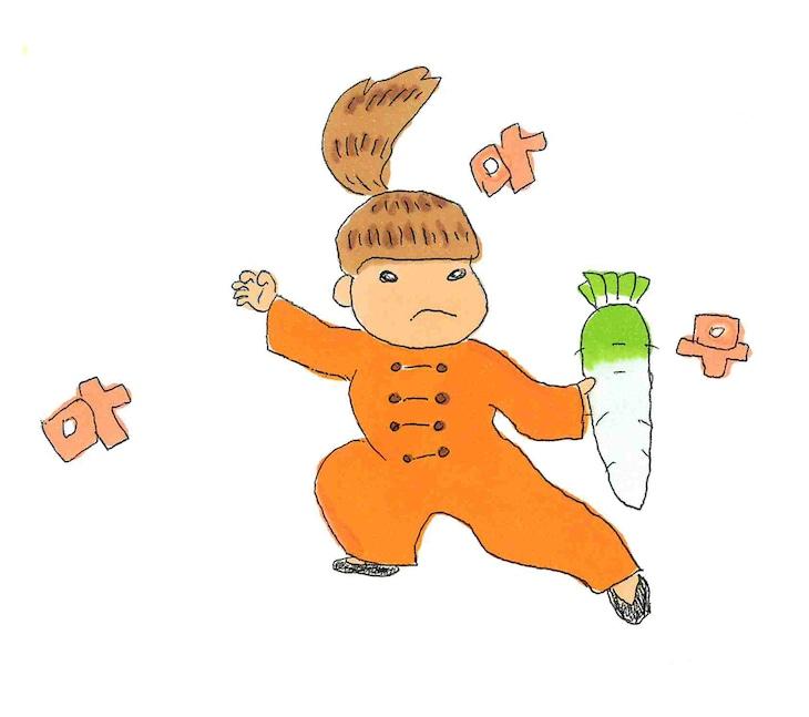 土岐麻子による直筆のMAMAMOOイメージイラスト。