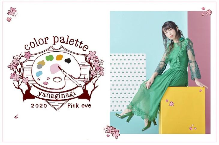 やなぎなぎ「color palette ~2020 Pink eve~」ビジュアル