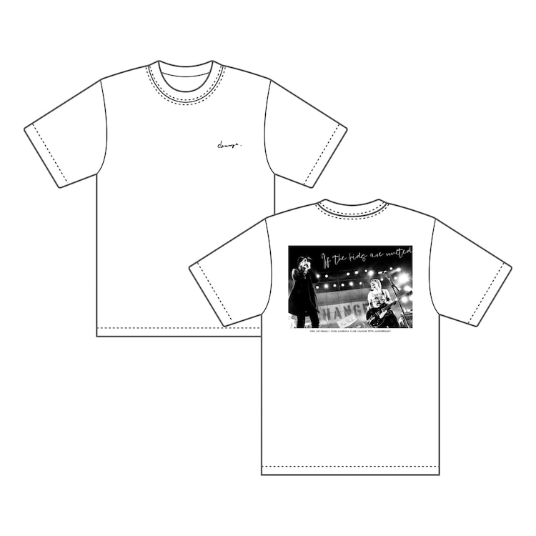 「盛岡Club Change × 横山健 × チバユウスケ コラボフォトTシャツ photo by 石井麻木」ホワイト