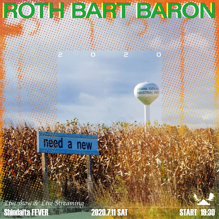 """「ROTH BART BARON """"2020"""" Live at FEVER」告知ビジュアル"""