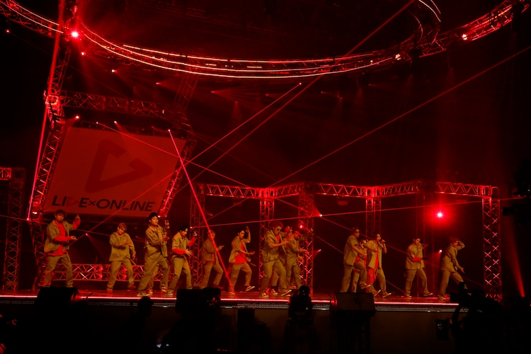 THE RAMPAGE from EXILE TRIBE「LIVE×ONLINE」の様子。(写真提供:LDH)