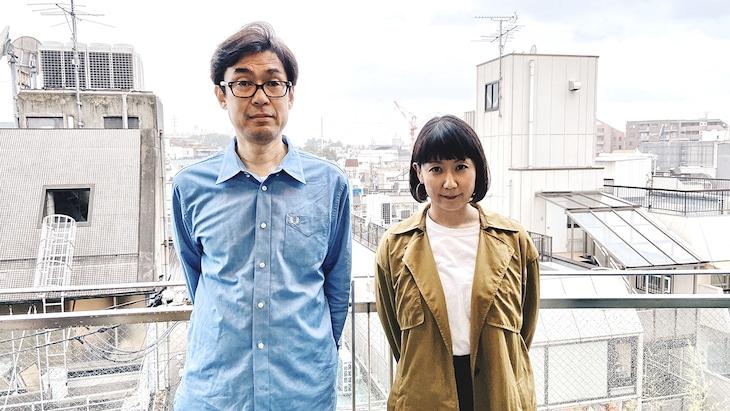 左からUK.PROJECT遠藤幸一社長、フミ(POLYSICS)。