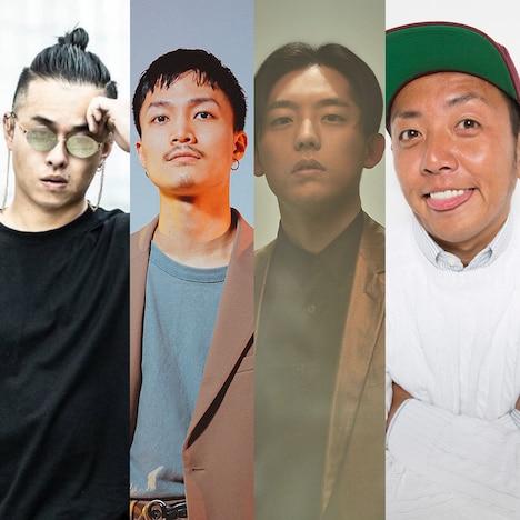 左からYmagik、Shin Sakiura、KEN THE 390、PES。