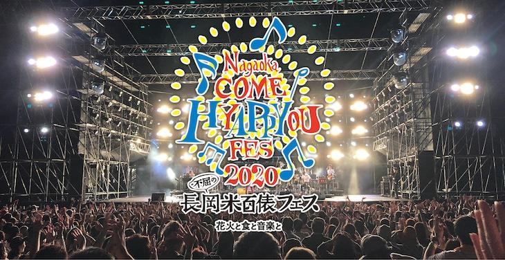 「長岡 米百俵フェス ~花火と食と音楽と~ 2020」メインビジュアル