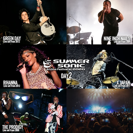 「SUMMER SONIC 2020 ARCHIVE FESTIVAL-vol.2-」DAY 2出演者一覧。