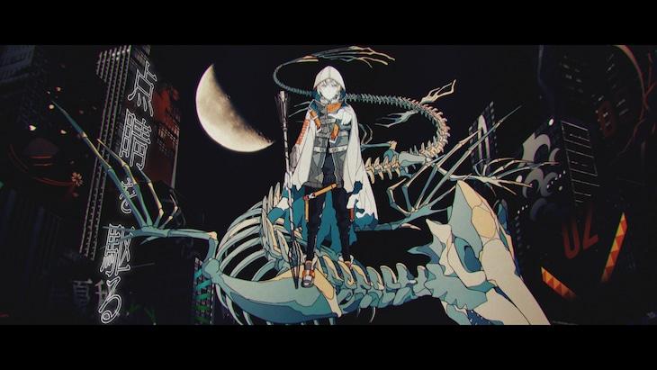 しゅーず×めいちゃん「点睛を駆る」MVのワンシーン。