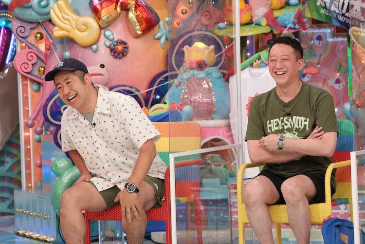 左から澤部佑(ハライチ)、高橋茂雄(サバンナ)。 (c)テレビ朝日