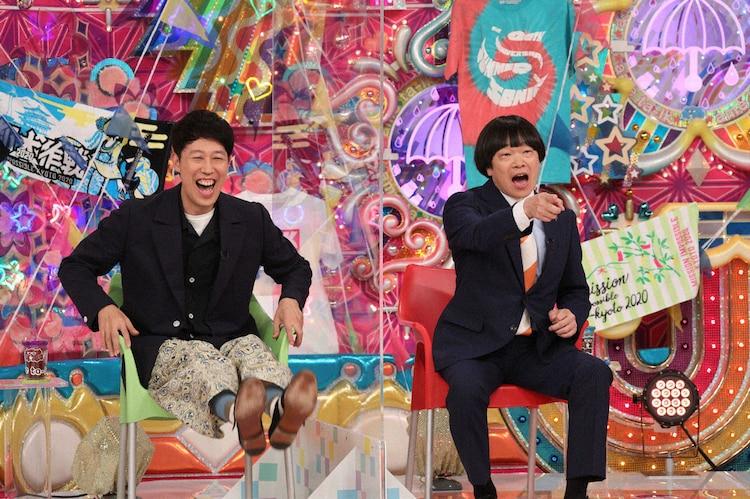 左から小籔千豊、蛍原徹。 (c)テレビ朝日