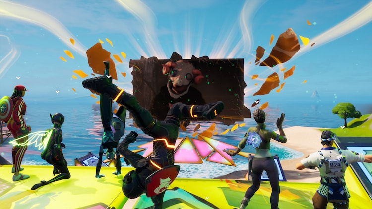 「米津玄師 2020 Event / STRAY SHEEP in FORTNITE」の様子。