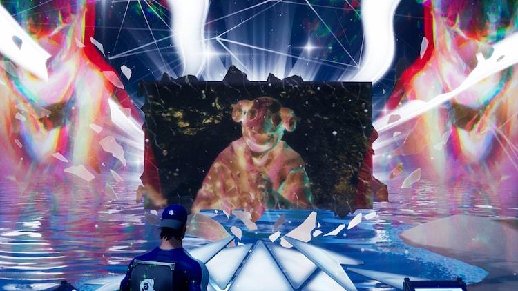「米津玄師 2020 Event / STRAY SHEEP in FORTNITE」の様子。