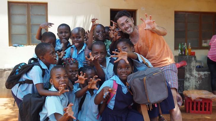 2017年2月、モザンビークにて。