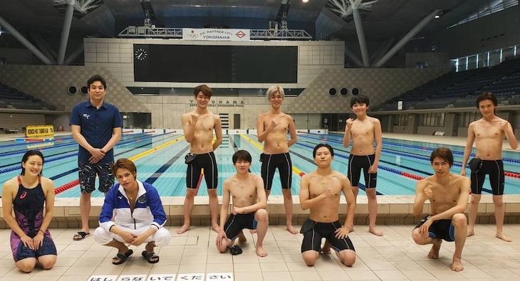 TBS系「炎の体育会TVSP」の上田ジャニーズ水泳部。(c)TBS