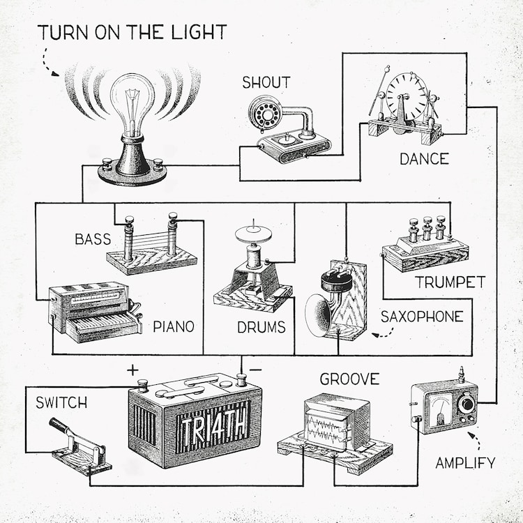 TRI4TH「Turn On The Light」ジャケット