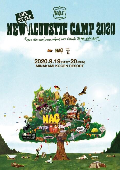 「New(Lifestyle)Acoustic Camp 2020〜いつもより、ゆったり、のんびりの、あらたしいニューアコ。〜」告知ビジュアル