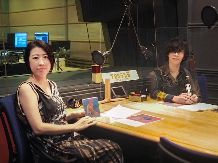 TBSラジオ「米津玄師×野木亜紀子『MIU404』対談」収録の様子。