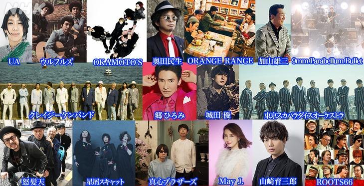 NHK BSプレミアム「The Covers」8月23日放送回出演アーティスト