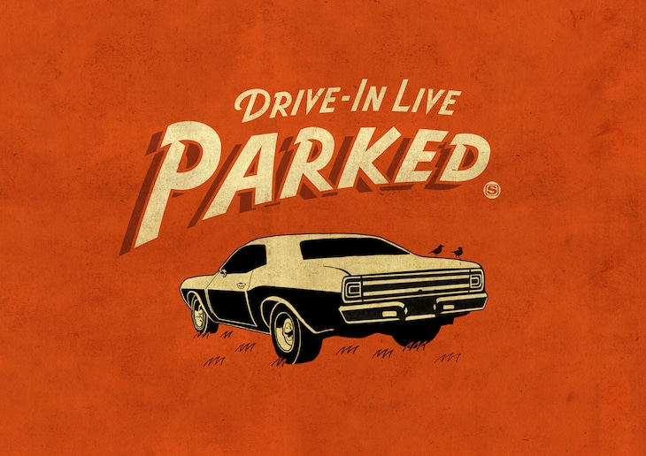 """「DRIVE IN LIVE """"PARKED""""」キービジュアル"""