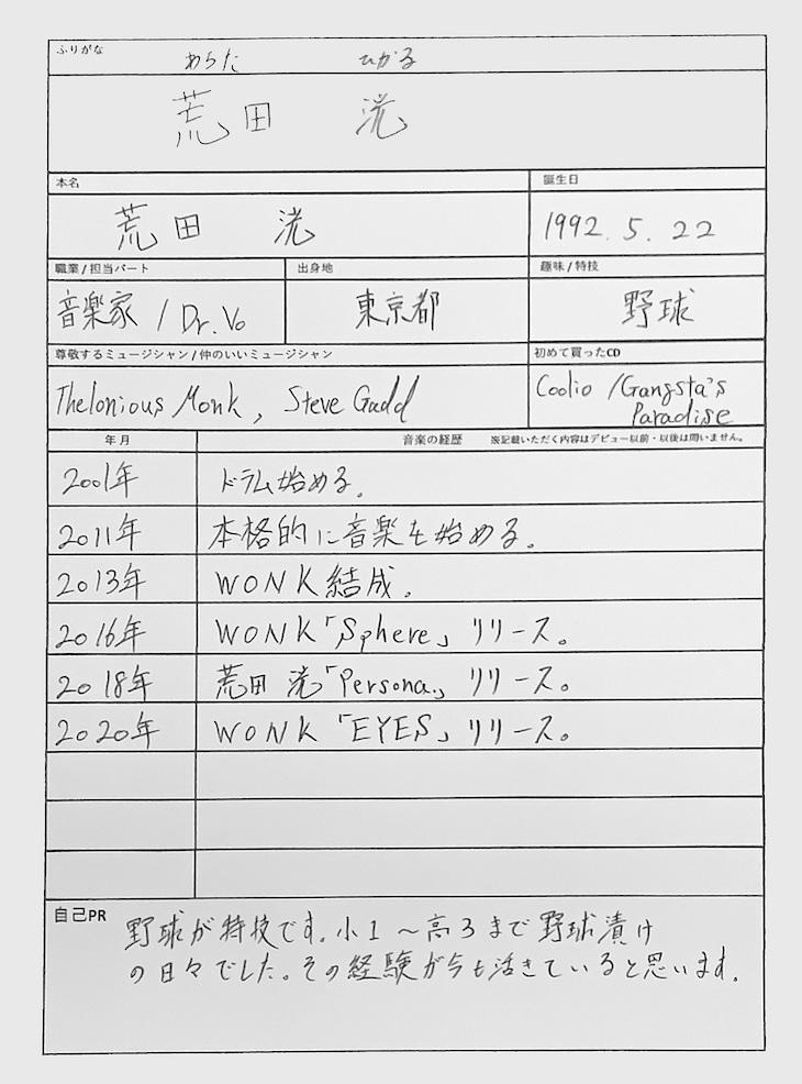 荒田洸の音楽履歴書。