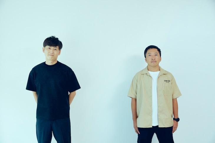 左から松島功、宮本浩志。