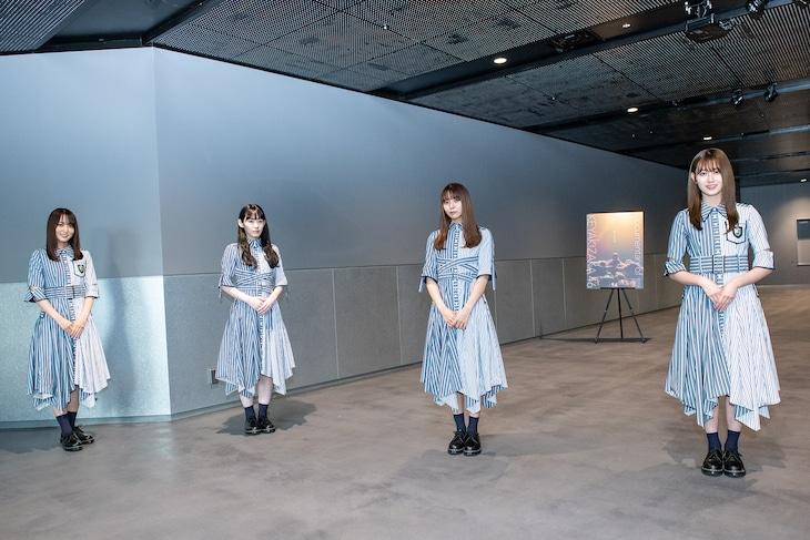 左から菅井友香、小池美波、小林由依、守屋茜。
