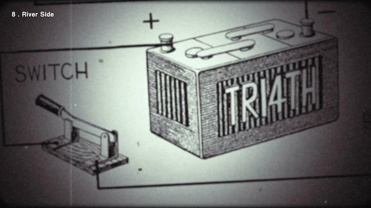 TRI4TH「Turn On The Light」トレイラー映像のワンシーン。