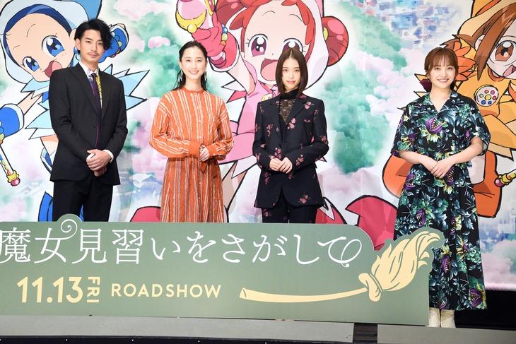 左から三浦翔平、松井玲奈、森川葵、百田夏菜子。