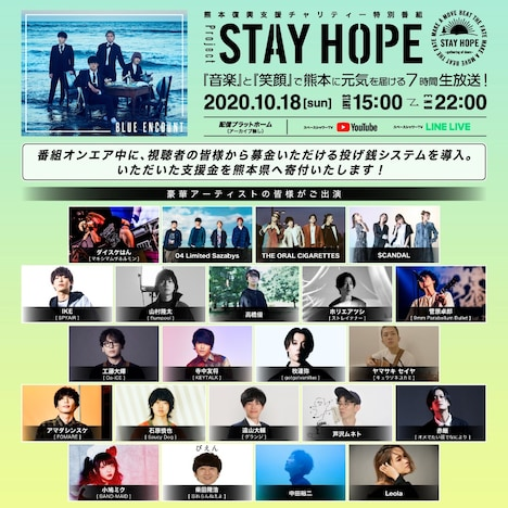 「project STAY HOPE」告知ビジュアル