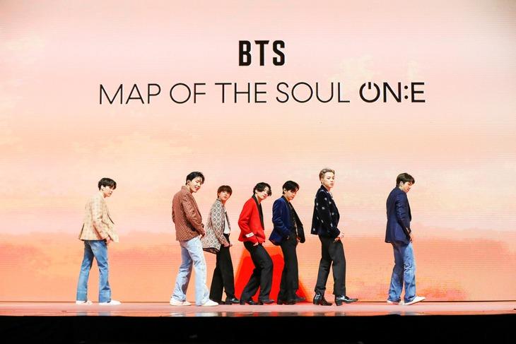 「BTS MAP OF THE SOUL ON:E」の様子。(c)Big Hit Entertainment