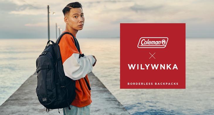 WILYWNKAとコールマンのコラボビジュアル。