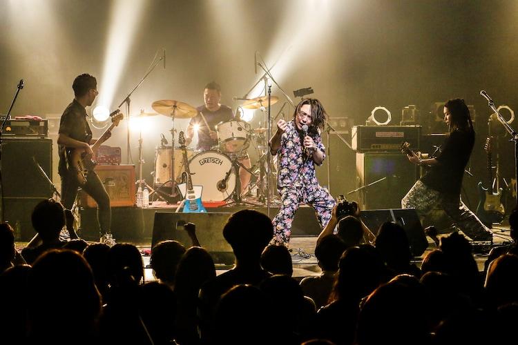 挫・人間「挫・人間 TOUR 2020~さような来世!風と共に去りヌンティウス~」東京・TSUTAYA O-EAST公演の様子。(撮影:森好弘)