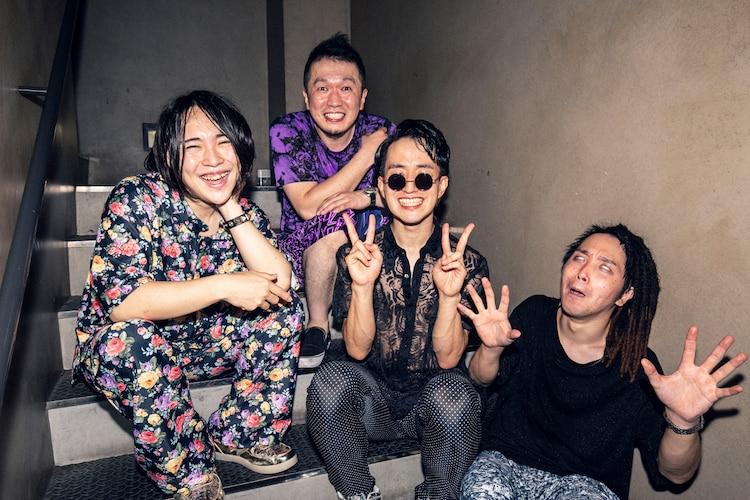 挫・人間「挫・人間 TOUR 2020~さような来世!風と共に去りヌンティウス~」東京・TSUTAYA O-EAST公演の舞台裏の様子。(撮影:森好弘)