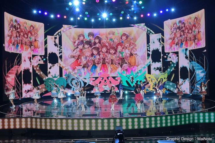 「NHK WORLD-JAPAN presents SONGS OF TOKYO Festival 2020」より、アイドルマスター(アイドルマスター / アイドルマスター シンデレラガールズ / アイドルマスター ミリオンライブ! / アイドルマスターSideM / アイドルマスター シャイニーカラーズ)。(写真提供:NHK)