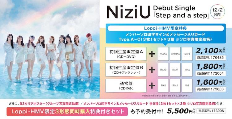 「NiziUデビュー応援キャンペーン」デビューシングルCD Loppi/HMV限定特典告知ビジュアル