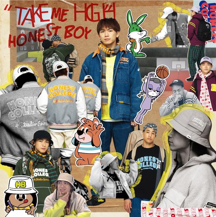 HONEST BOY「TAKE ME HIGH」配信ジャケット
