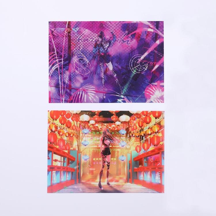 「魔女展」で販売される「春猿火MVクリアファイルセット」。