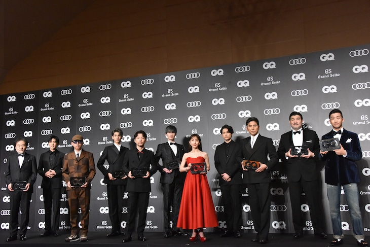 「GQ MEN OF THE YEAR 2020」の受賞者。