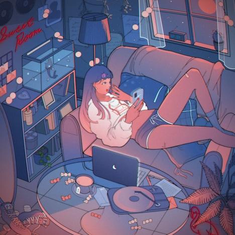 Saint Vega「Pink Moon & Sweet Room」配信ジャケット